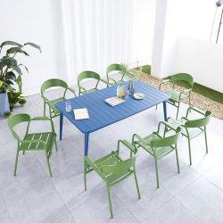 대형 식사 테이블 알루미늄 커피 테이블 실외 테이블 및 카페 숍에서 사용되는 의자 세트 바 가구