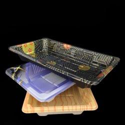 Gâteau de sushi en plastique jetables//pain/COOKIE/contenant des aliments de collation avec couvercle