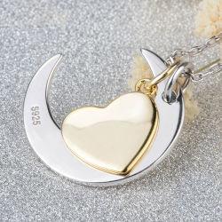 Inner-Halskette ich liebe dich zu den Mond-und rückseitige Mamma-hängenden Halsketten-Muttertagesgeschenk-Großverkauf-Form-Schmucksachen
