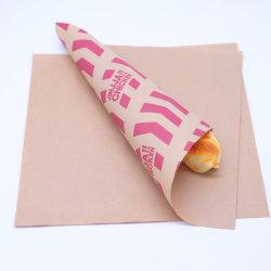 Los envases de alimentos ecológicos biodegradables papel encerado Personalizar grasa el logotipo de la prueba de la Cera Burger el papel de envoltura