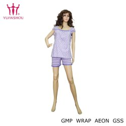 Les femmes personnalisés Flying-Sleeve chemise et pantalon Pajama dormir ensemble Lady de décharge/Allover Chemise de nuit d'impression/costume de vêtements de nuit/pyjamas de marque du groupe homewear