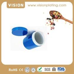 La FDA 8oz acabado Ice Blue Seal Contenedor de plástico de la botella de almacenamiento de plástico