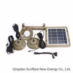 De draagbare Macht die van het Zonnepaneel het ZonneLicht van de Buis met 3 LEIDENE Bollen/Systeem van de Energie van Lampen het Draagbare voor de Verlichting van het Huis aansteken