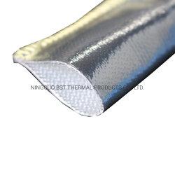 El papel de aluminio recubierto de manguera de cable de fibra de vidrio protector de calor
