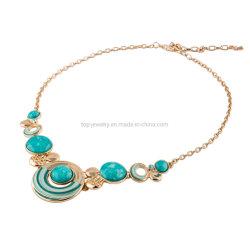 Coloré Collier géométrique Turquoise vintage ronds