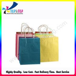 Custom Craft напечатано Магазины / перевозчика складные мешок для упаковки, Роскошный подарок из вторсырья мешок для упаковки, моды крафт-бумаги для подушек безопасности / чай / обувь / одежда