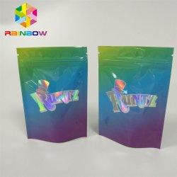 Kundenspezifischer Drucken ganz eigenhändig geschrieber Film lamellierte Runtz Plastik mit Reißverschlussbeutel mit kindersicherem und regelmäßigem Reißverschluss