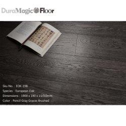 Pavimentazione a livello europeo grigia scura della quercia della matita di prezzi di fabbrica