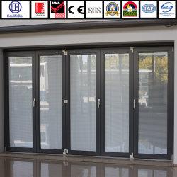 Aluminium-/Aluminiumlegierung-ausgeglichenes Glas-Eingangs-Innenmetallschalldichte Falz-Tür