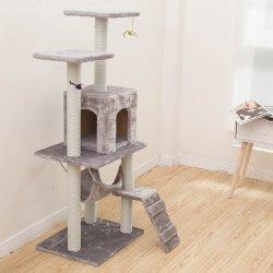 Nouveau design en peluche Sécurité Accueil Sisal Kitty Cat durables rayures pôles Condos Towers arbres mobilier d'escalade de la Chambre cat Tree