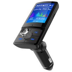 Bc45 ecrã a cores Transmissor FM carro sem fio de áudio MP3 Kit veicular Bluetooth mãos livres com 5V 2.4A suporte de carga USB duplo Siri