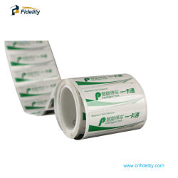 Impressão personalizada de PET de papel EPC Classe 1 Gen2 Monza 4 etiqueta RFID UHF Carro Brisa etiquetas autocolantes
