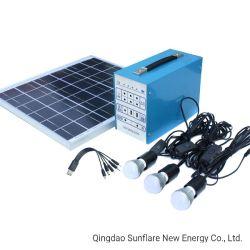 2020 Shandong 10W l'énergie solaire de l'enregistrement des ampoules à LED/Voyant/lampe LED Kit d'éclairage solaire Light System avec chargeur de téléphone mobile pour l'Afrique/Nigeria/marché de l'Inde