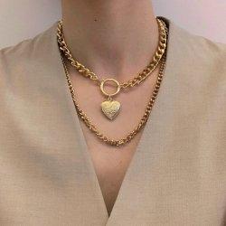 مجوهرات الأزياء المجوهرات الذهبية قلادة عقد ملحق