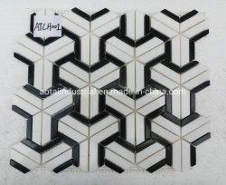 Misturar cores Pedra Natural e da parede de azulejos do piso de mosaico em mármore