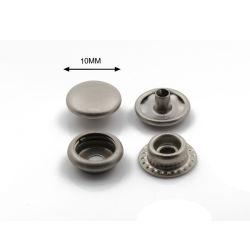 Matt-Nickel-materieller runder Messingkopf 10 mm-doppelte Hauptsprung-Presse-Verschluss-Taste