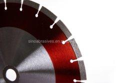 Silencio segmentada de soldadura por láser Corte de cerámica de la hoja de diamante