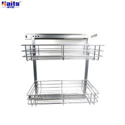 Armario deslizante Organizador de la Cesta La cesta de la cocina La cocina de acero Rack