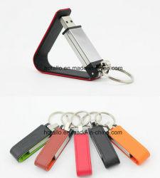 Cuir de grande qualité USB Flash Memory Stick™ avec le logo d'estampage avec le trousseau