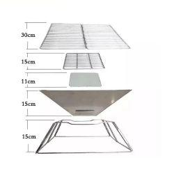 Aço inoxidável dobrável portátil dobrável antracite varanda exterior Camping Ferramentas Churrasco churrascos
