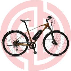 타이어 700c 합금 프레임 현탁액 전기 산악 자전거