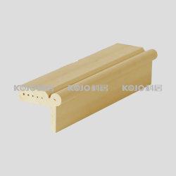 Material de espuma de PVC resistente al agua WPC perfil decorativo se utiliza con la puerta (KT-17)