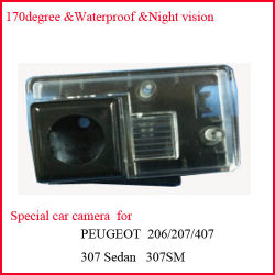 Special Car Rear View Camera for Peugeot 206/207/307/407
