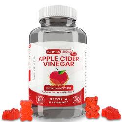 Vinagre de sidra de manzana orgánica con la madre Vegan Gummies para Detox Cleanser