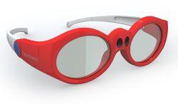 35g lunettes Active Shutter 3D pour la 3D TV adapté aux enfants de taille (T610U)