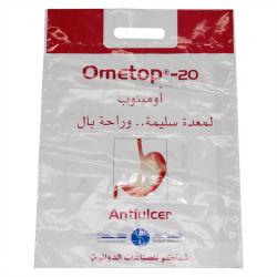 Pochette imprimé recyclables le trou de la poignée de sacs en plastique pour les textiles (FLD-8552)