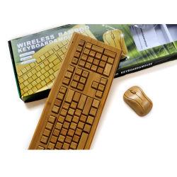 독특한 컴퓨터 대나무 무선 키보드 108개 키
