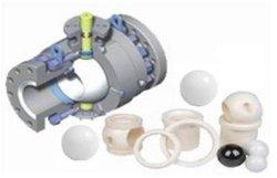 دقة Euipment PTFE والكرة الفلون
