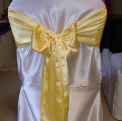 """Cadeira acetinado coberturas para decoração de Banquetes 6""""x108"""""""