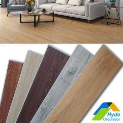 Clique Unilin cor de madeira à prova de laminado plástico de Pedra Piso Ripada Spc Lvt EVA RVP IXPE PVC Vinil Rígida Plank Flooring