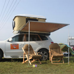 실외 열간 판매 자동차 지붕 위 측면 차양 캠핑