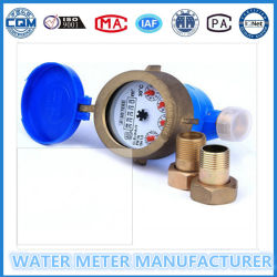 Tipo seco chorro múltiple, Medidor de agua fría con cuerpo de latón (LXSG-15E-50E)