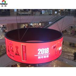고품질 유연한 실내 LED 스크린 P4 발광 다이오드 표시 위원회 연약한 LED 커튼 전시