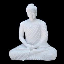 Scultura di pietra di marmo del giardino della scultura di seduta a grandezza naturale del Buddha