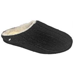 남녀 공통 뜨개질을 한 모직 양가죽 실내 슬리퍼 (AL12-037)