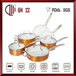 10PCS Enamel Waterless Amc Cookware