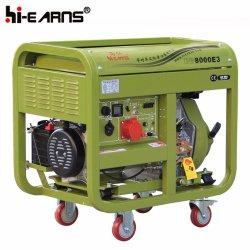 Tipo de bastidor abierto Air-Cooled grupo electrógeno diesel (DG8000E3).