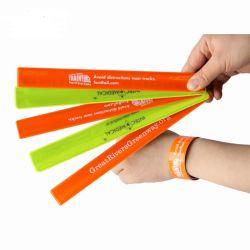 Nuevos productos de Deportes de la impresión de logotipo personalizado OEM PVC Brazalete Slap