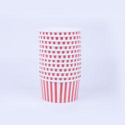 la tazza di carta rossa del gelato della banda 6oz con PE ha ricoperto