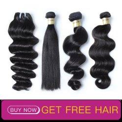 Comercio al por mayor extensión de cabello virgen sin procesar Virgen brasileño cabello humano.