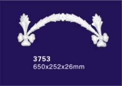 Ornamento de poliuretano de color personalizado / Diseño de Flor de moldeo por inyección para pared y techo