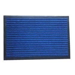 La superficie de Tela de poliéster con rayas no reverso de PVC flexible de alfombra felpudo