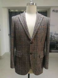 2019 Nuevo diseño de la muesca de lana de solapa Slim 2 Bottons clásico Hombre de traje de negocios