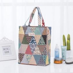 2018 Stuff Pochette Sac shopping coton Lady Élément Floral de grande capacité de l'organiseur valise ECO pour les étudiants des sacs de stockage fourre-tout d'impression