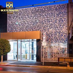 Découpe laser décoratifs en aluminium façade perforée mur-rideau (Keenhai-CW017)