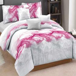 Amazon Vente chaude American Style Simple micro polyester imprimé Accueil Jeu de literie avec couvercle et taie Bedsheet courtepointe